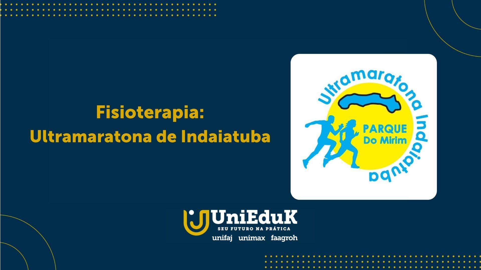A imagem traz o logo da Ultramaratona de Indaiatuba em moldura específica do Grupo UniEduK.